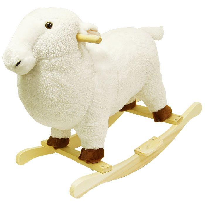 418-795 - Happy Trails™ Plush Lamb Rocking Animal