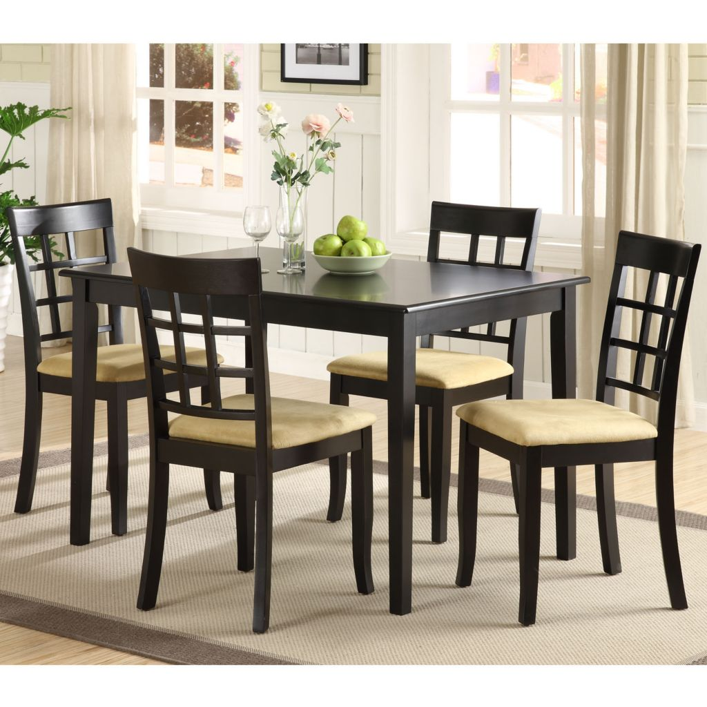 418-867 - Five-Piece Black Finish Dining Set