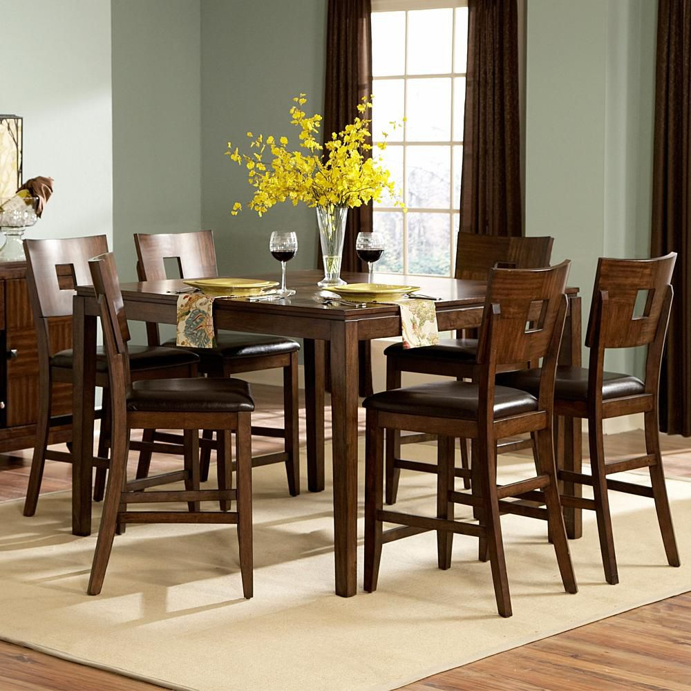 418-890 - Seven-Piece Counter Height Dining Set