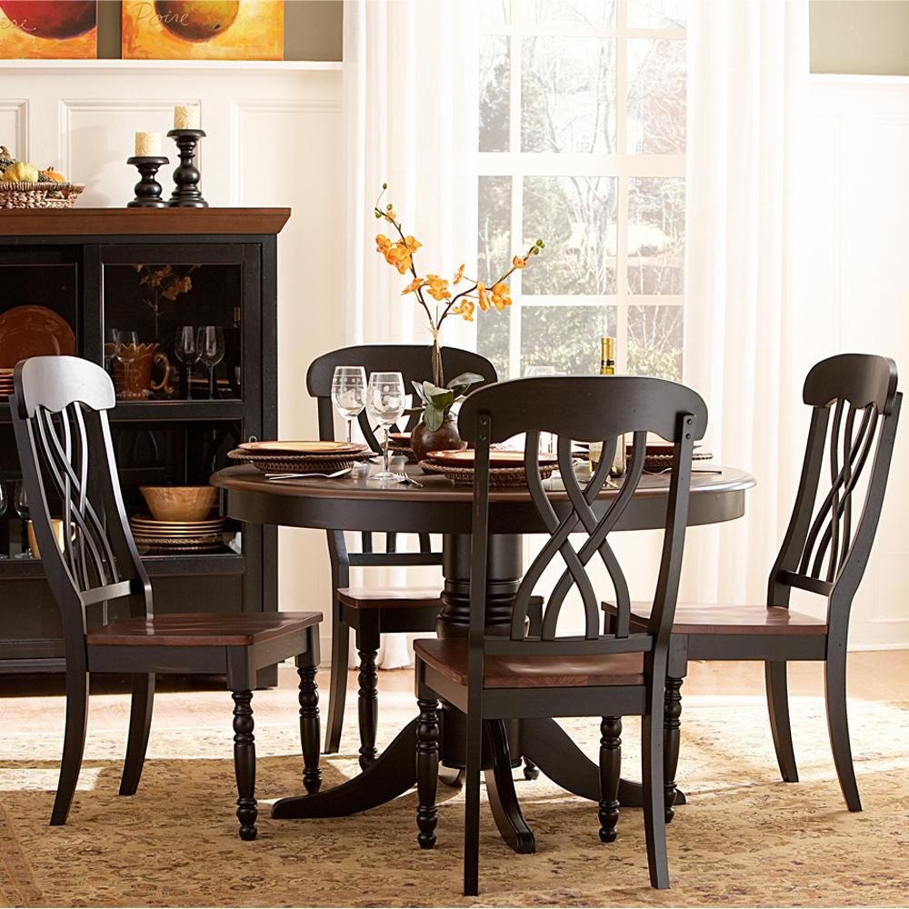 418-891 - Five-Piece Casual Round Dining Table Set