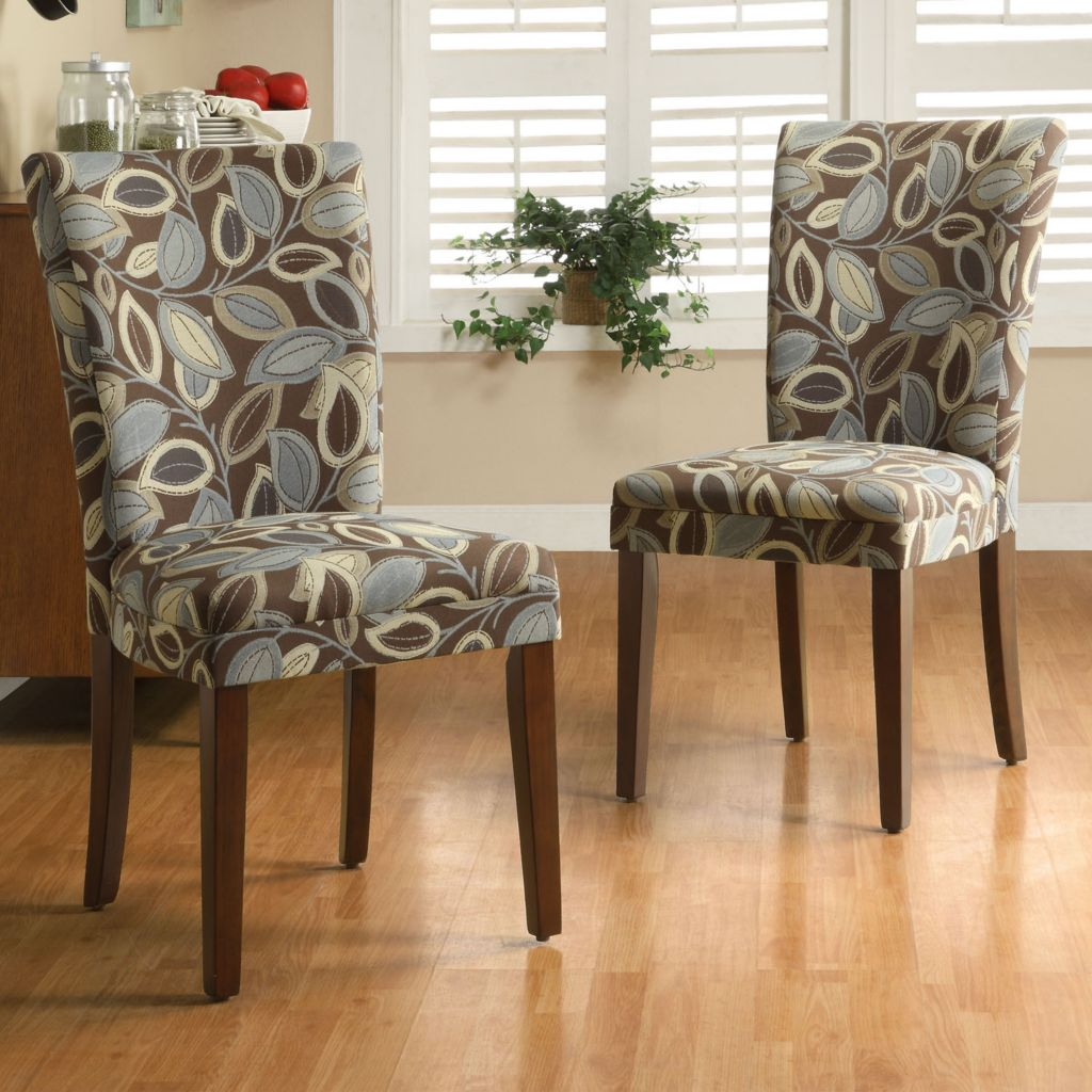 418-993 - Leaf Print Dining Chairs - Set of Two