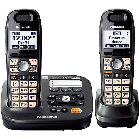 419-793 - Panasonic KX-TG6592T DECT 6.0 Plus Expandable Set-of-Two Digital Cordless Telephones