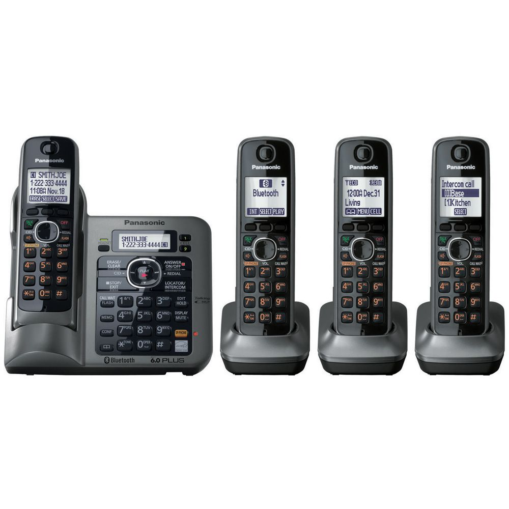 419-799 - Panasonic KX-TG7644M Link-to-Cell Set-of-Four Bluetooth Cellular Convergence Phones