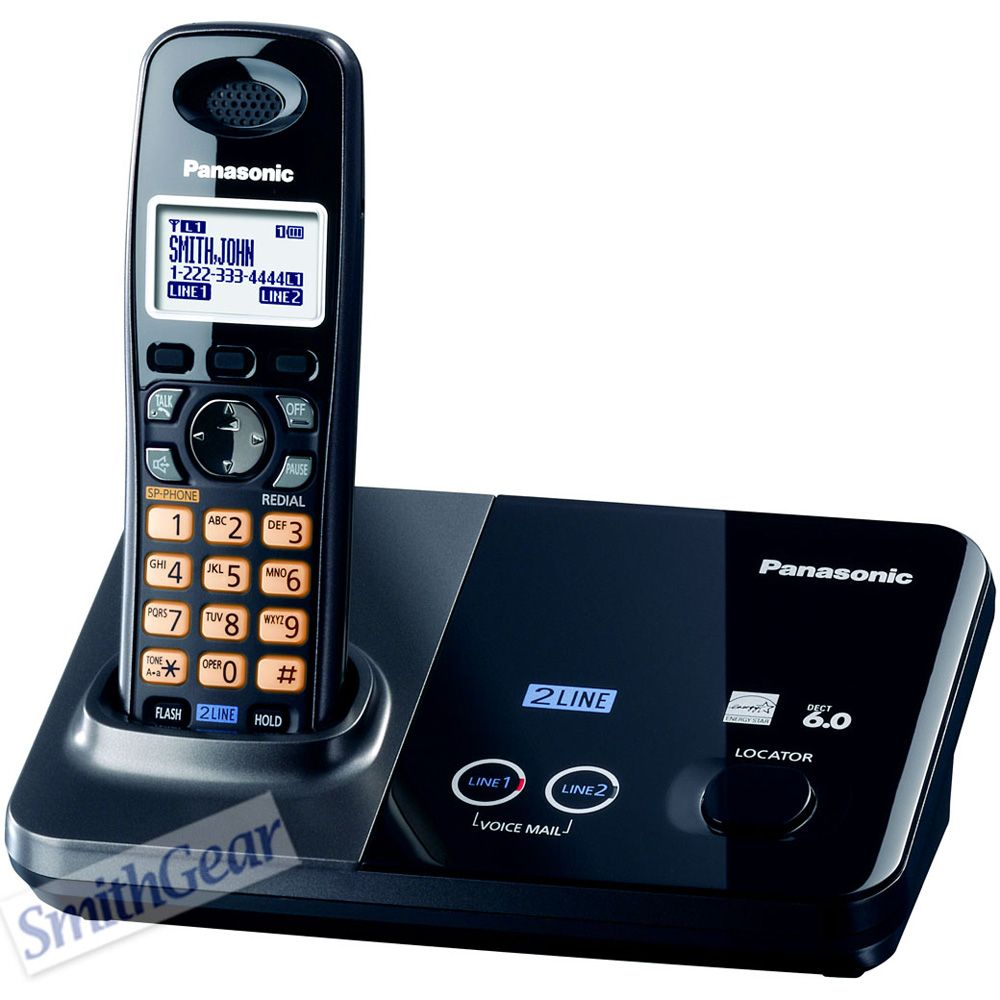 419-848 - Panasonic KX-TG9321T 2-Line DECT 6.0 Expandable Digital Cordless Telephones