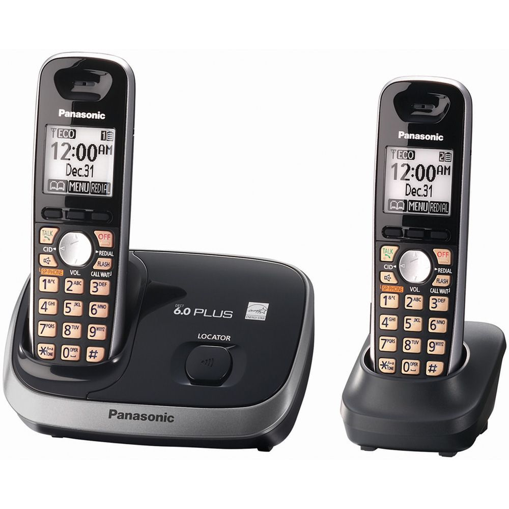419-856 - Panasonic KX-TG6512B DECT 6.0 Plus Expandable Digital Cordless Telephone