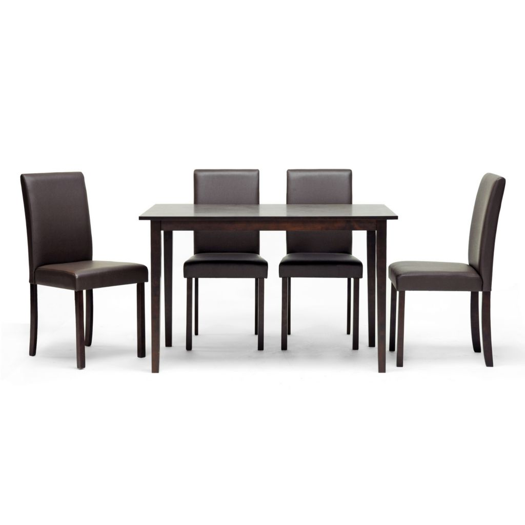 420-501 - Baxton Studio Susan Brown Wood Five-Piece Modern Dining Set