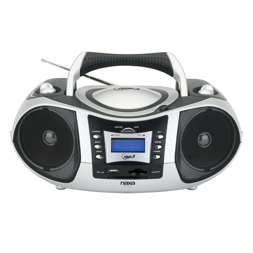 420-976 - Naxa Portable MP3/CD w/ Text Display, AM/FM, USB Input & SD/MMC Card Slot