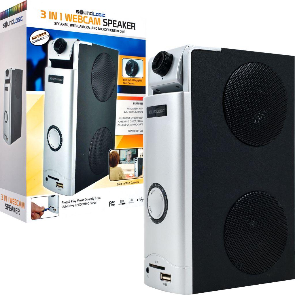 421-046 - SoundLogic Three-in-One Webcam & Desktop Speaker