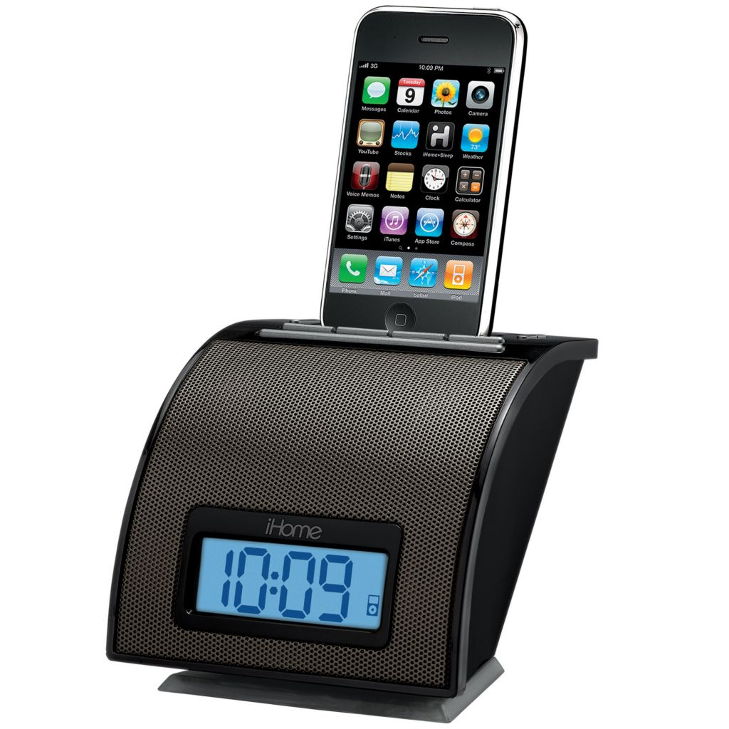 421-732 - iHome Space Saver iPod or iPhone Alarm Clock