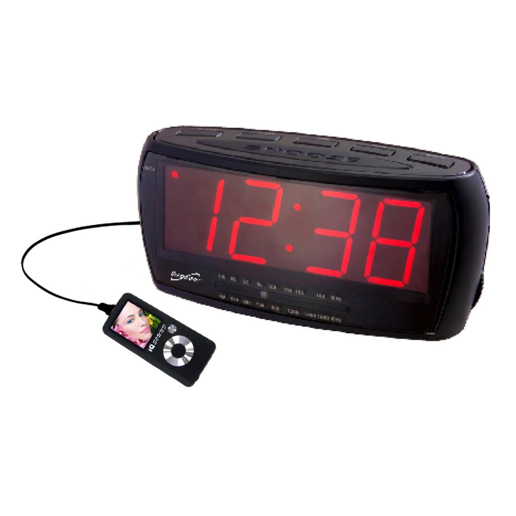421-914 - Supersonic Digital Jumbo Alarm Clock w/ AM/FM Radio