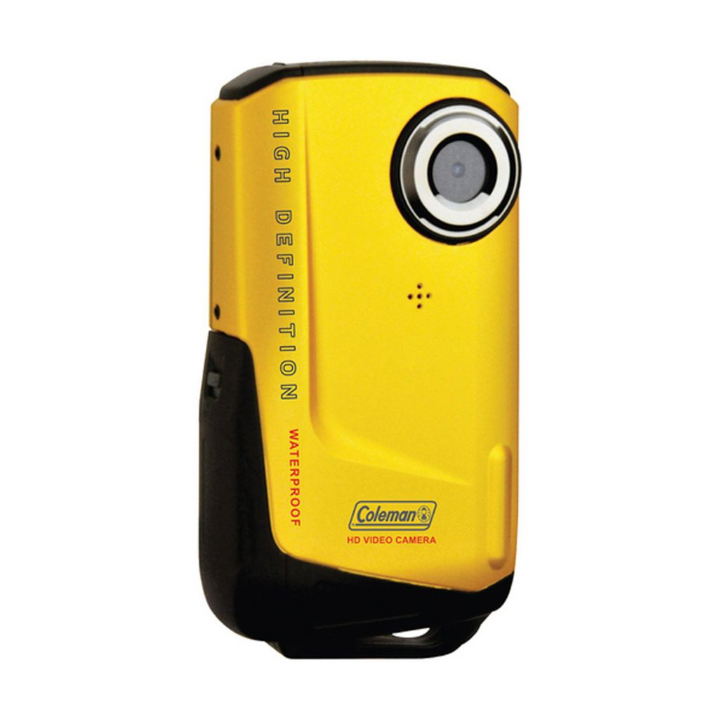 421-952 - Coleman CVW9HD-YL Xtreme Waterproof 1080p HD Yellow Digital Camcorder