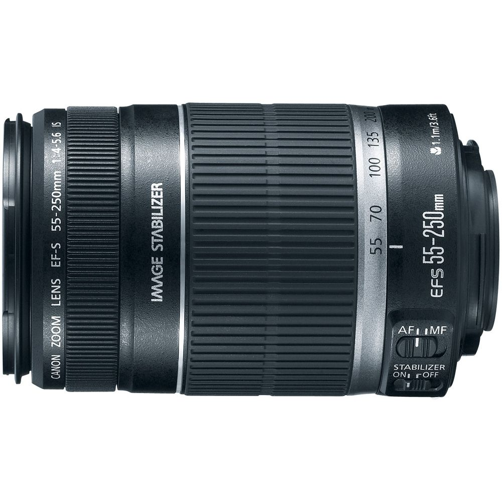 422-129 - Canon 2044B002 EF-S 55-250mm f/4-5.6 IS Telephoto Zoom Lens