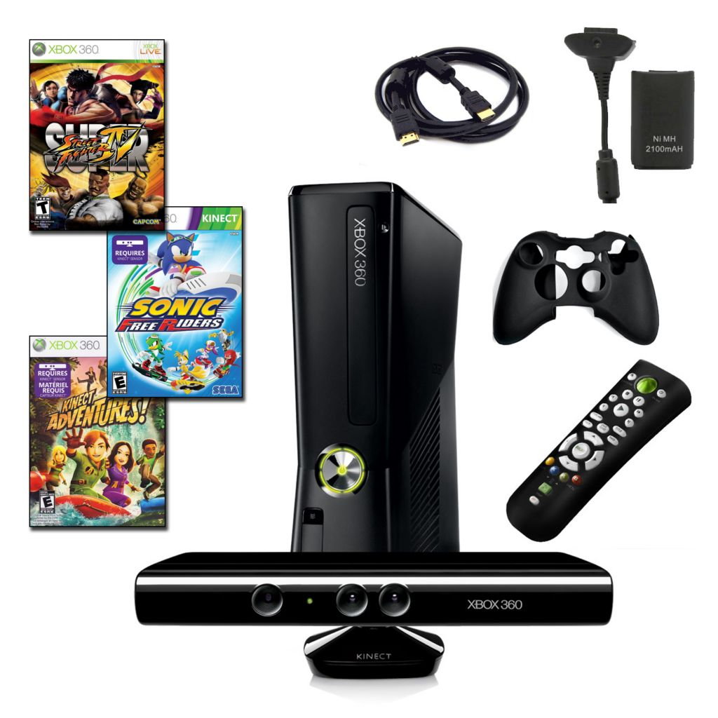 422-361 - Xbox 360 Ultimate Bundle w/ Slim 4GB Console, Kinect, Three Games & Accessories