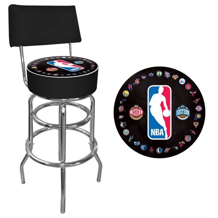 422-767 - NBA Padded Swivel Bar Stool with Back