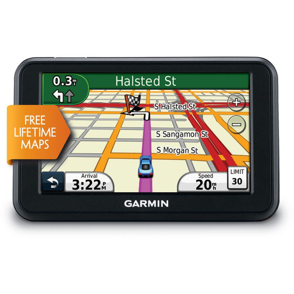"422-974 - Garmin nüvi 40LM 4.3"" GPS Navigator w/ United States Map Coverage & Lifetime Map Updates"