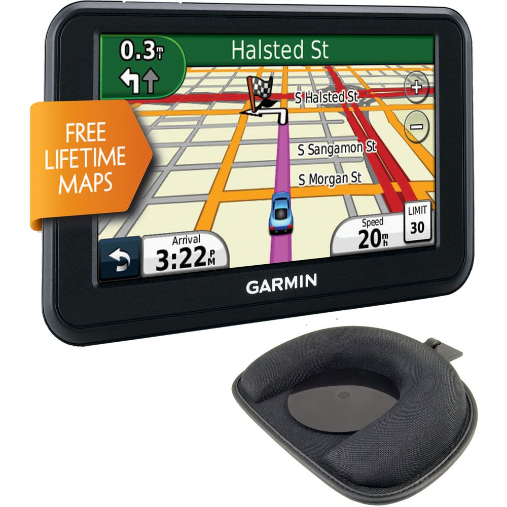 "422-975 - Garmin nü 40LM-2 KIT 4.3"" GPS Navigator w/ Lifetime Map Updates & Portable Friction Dash Mount"