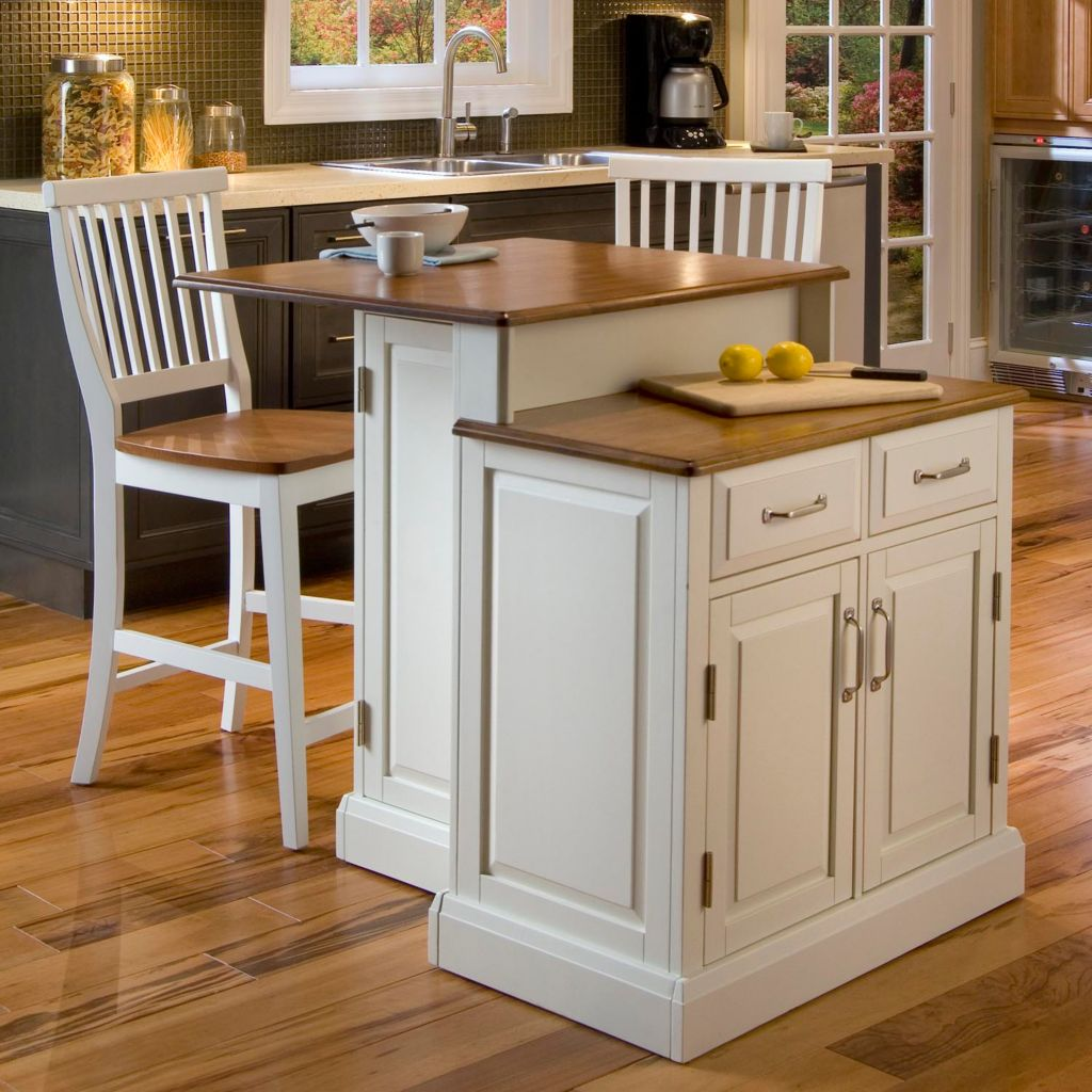 423-056 - Home Styles Woodbridge Two Tier Island & Two Stools
