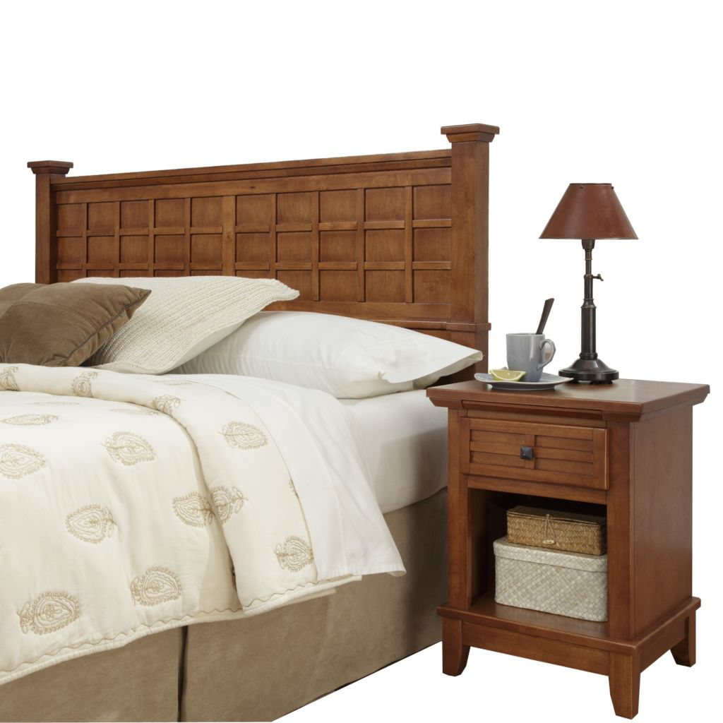 423-076 - Home Styles Arts & Crafts Headboard & Night Stand