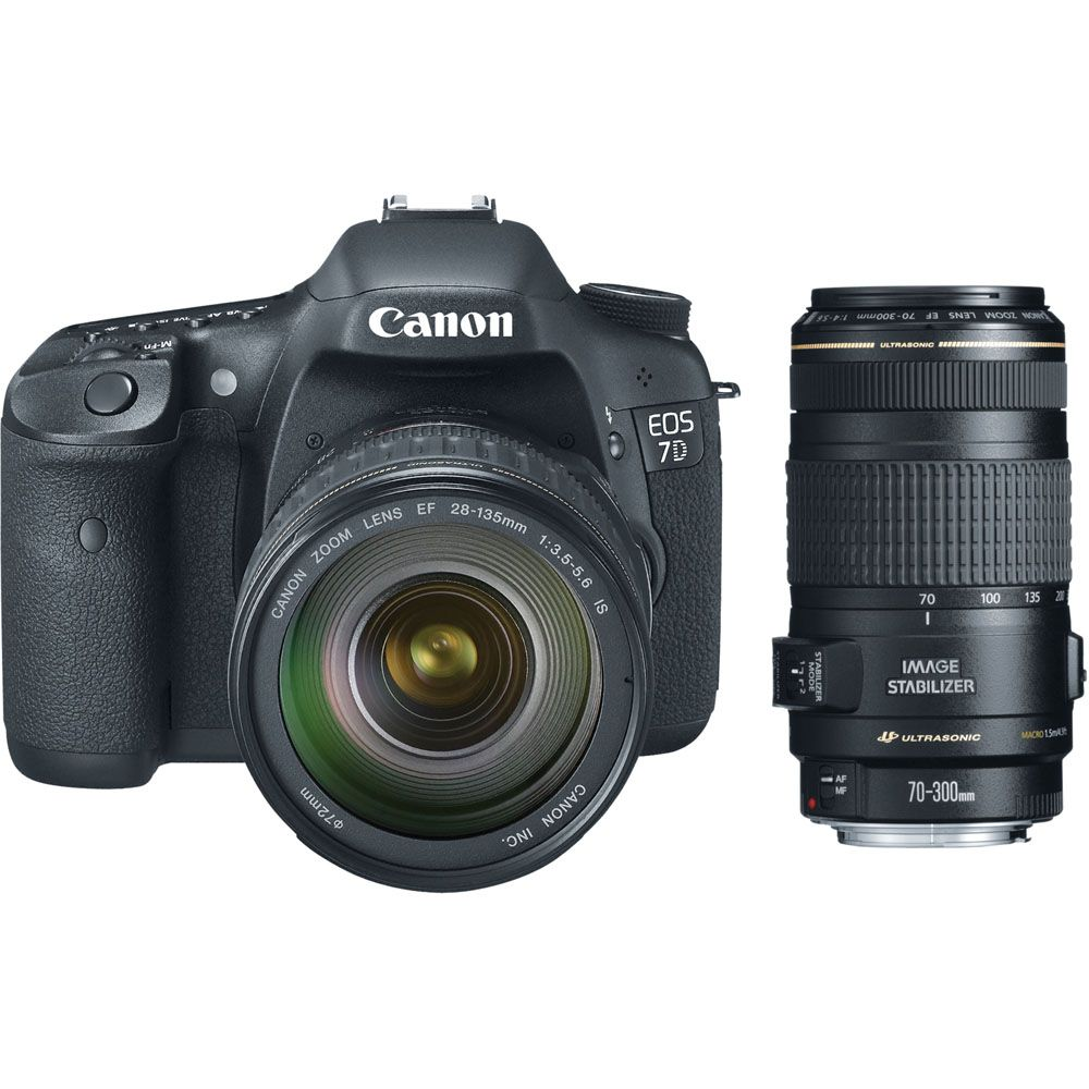 423-159 - Canon3814B010L2-KIT EOS 7D 18MP Dig SLR Cmra EF-S 28-135mm IS Lens,Tele. Zm Lens