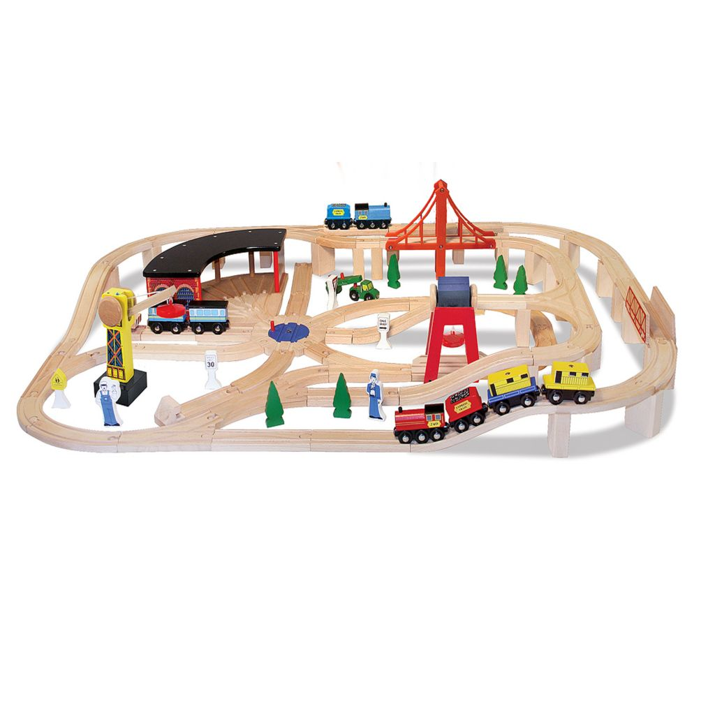 423-190 - Melissa & Doug® Wooden Railway Set