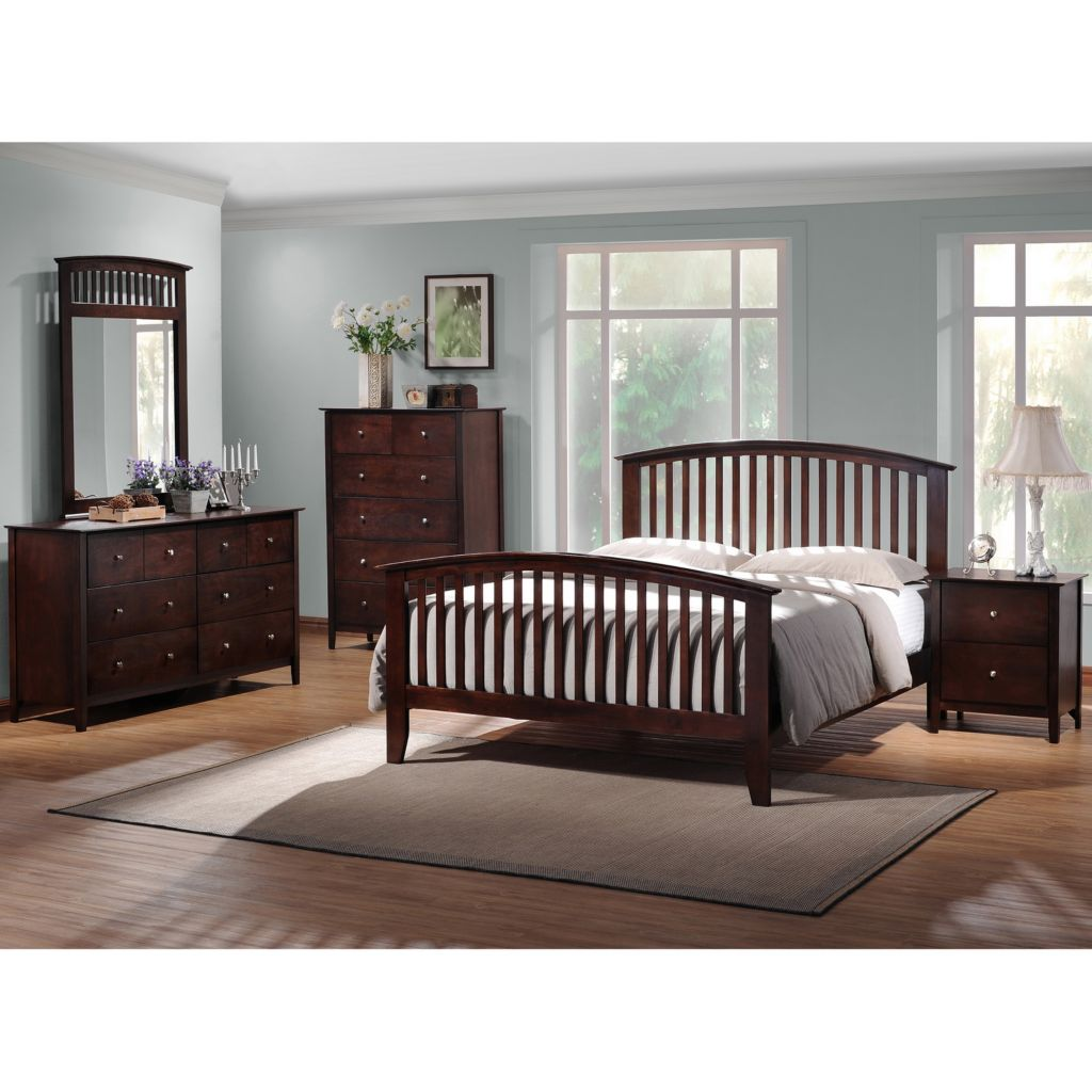 423-328 - Metro Dark Brown Five-Piece Bedroom Set