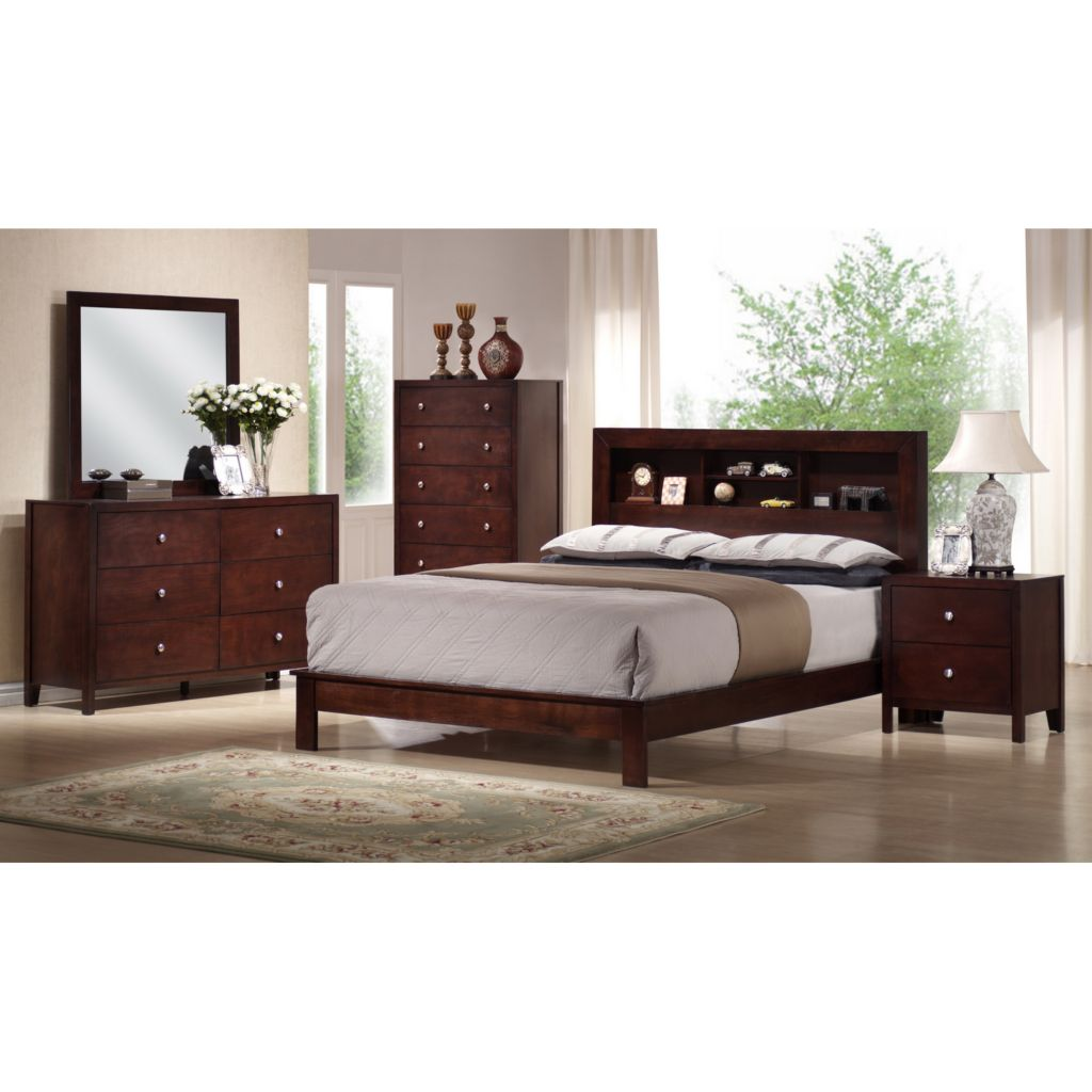 423-340 - Baxton Studio Montana Five-Piece Queen Bedroom Set