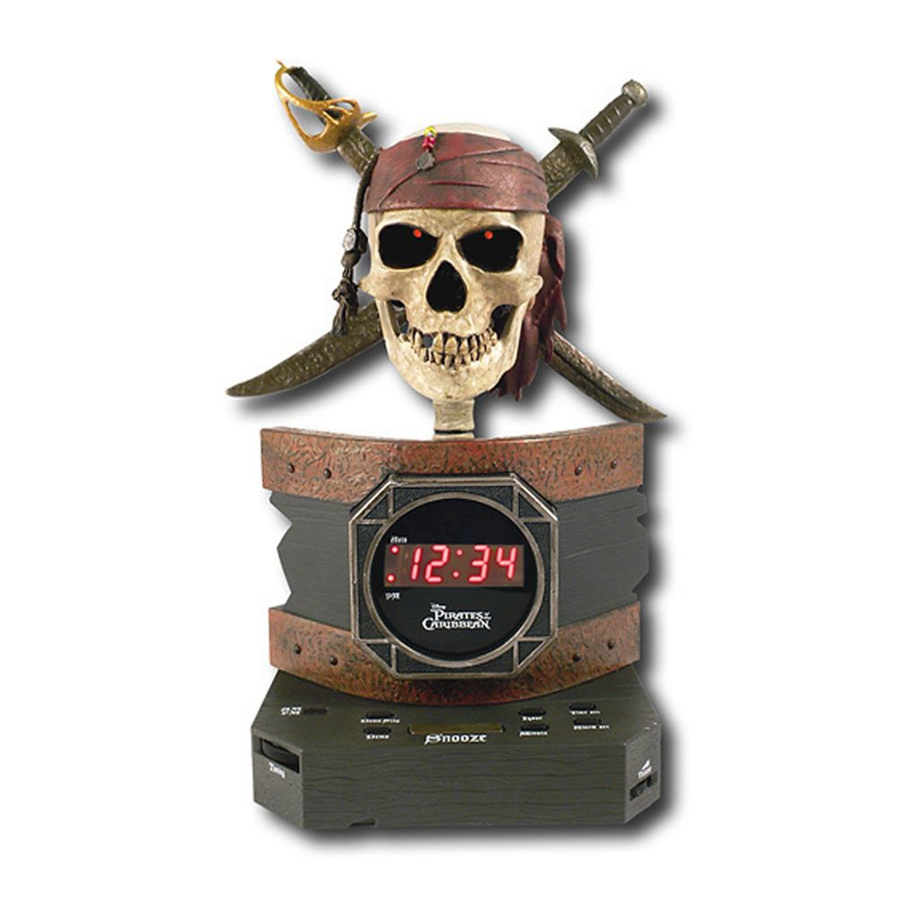 423-383 - Disney Pirates of the Caribbean Alarm Clock Radio