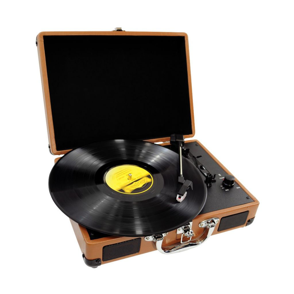 423-434 - Pyle PVTT2U Retro Belt-Drive Turntable w/ USB-to-PC Connection
