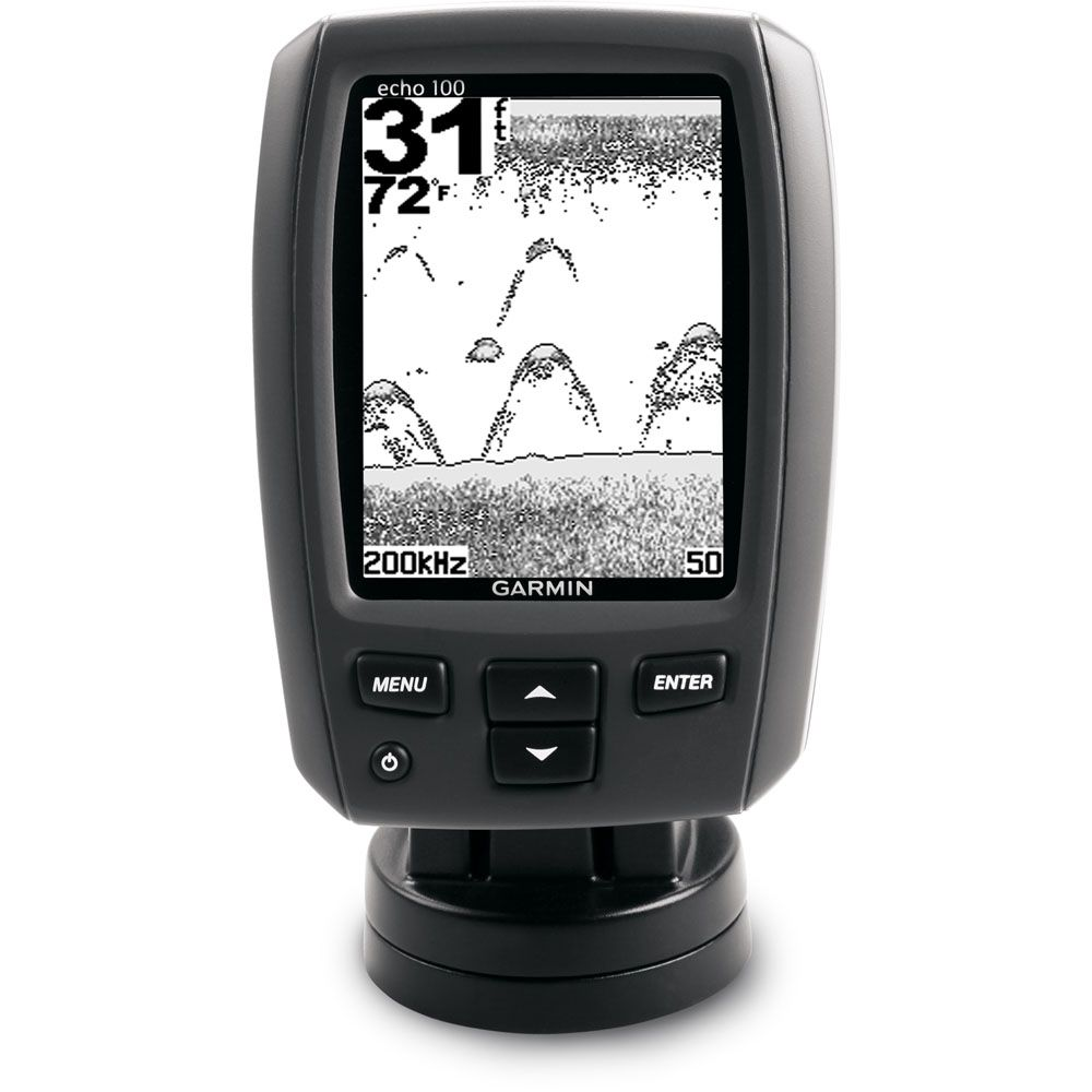 "423-595 - Garmin ECHO100 4"" Grayscale Single Beam Fresh/Saltwater Fishfinder"