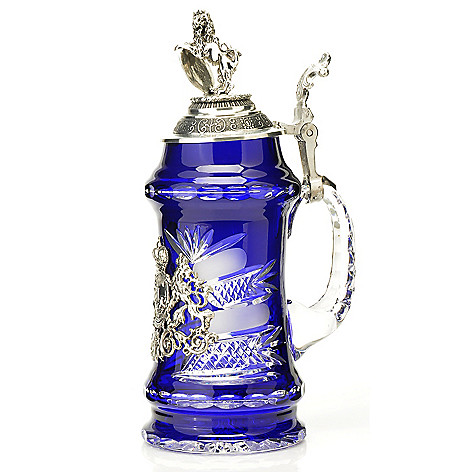 429-186 - King-Werk™ Lord of Crystal Royal Blue Bayern Limited Edition Crystal Stein