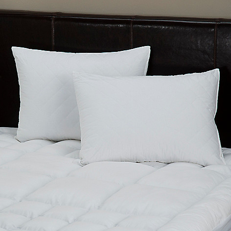 429-407 - North Shore Linens™ Quilted Pillowcase Pair w/ Nano-Tex™ Stain Release