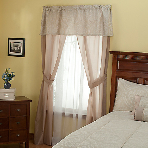 429-410 - North Shore Linens™ ''Lakewood'' Three-Piece Window Set