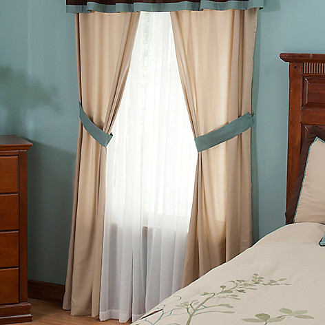 429-572 - North Shore Linens™ ''Silhouette'' Four-Piece Window Panel Set