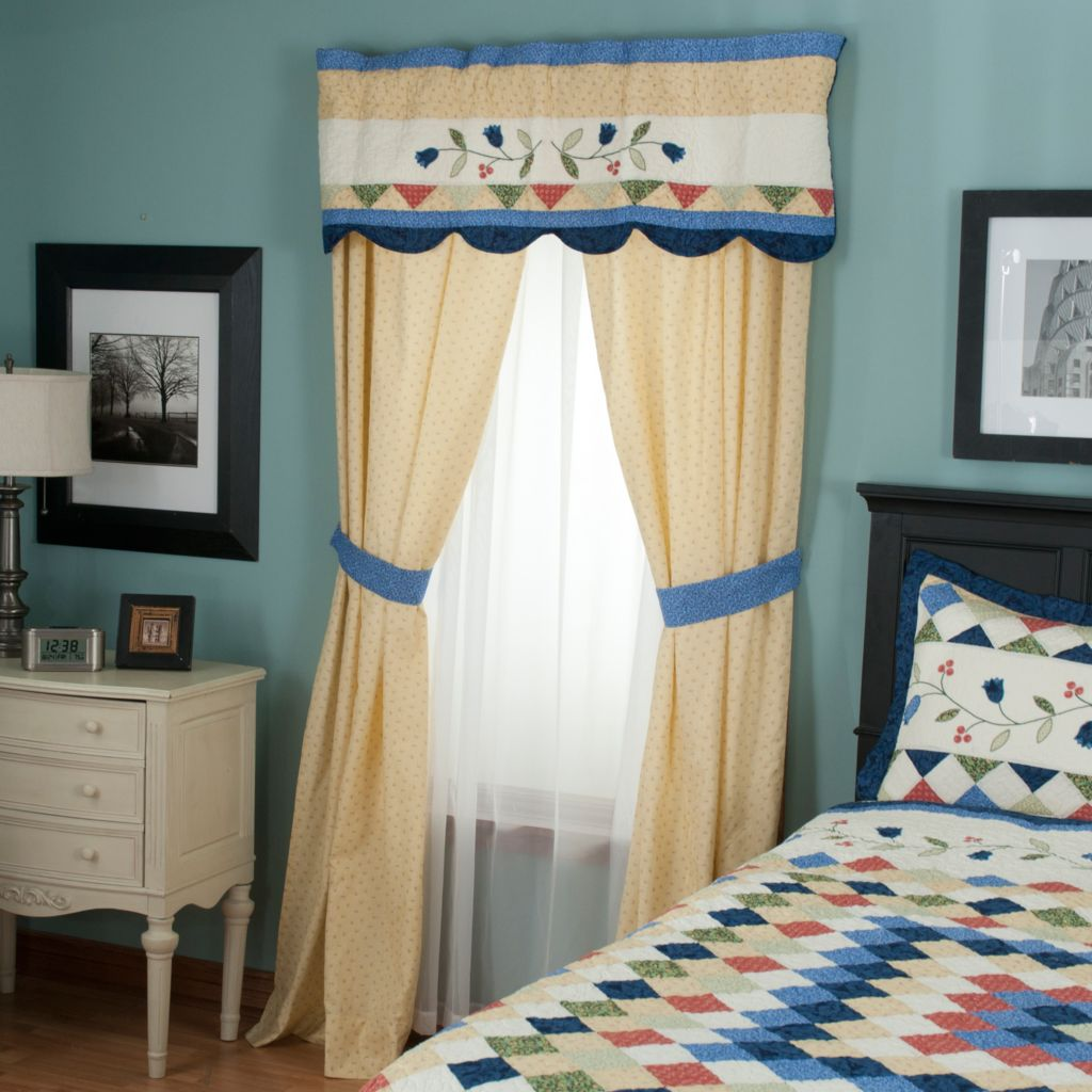 "429-598 - North Shore™ Collectible Quilts ""High Falls"" Three-Piece Window Set"