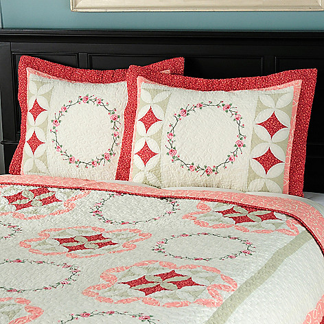 429-609 - North Shore™ Collectible Quilts ''Aria'' 100% Cotton Sham Pair