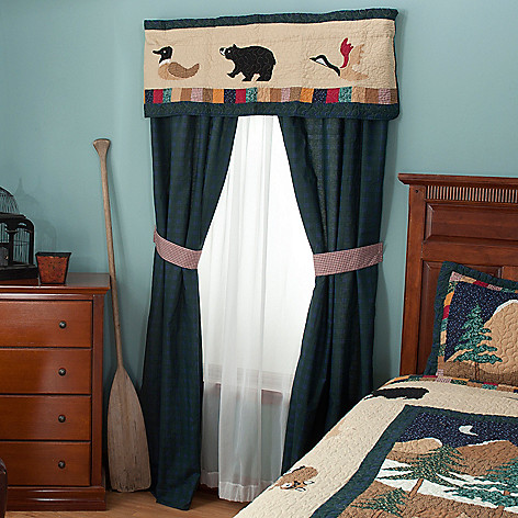 429-618 - North Shore™ Collectible Quilts ''Bear Mountain'' Five-Piece Window Set