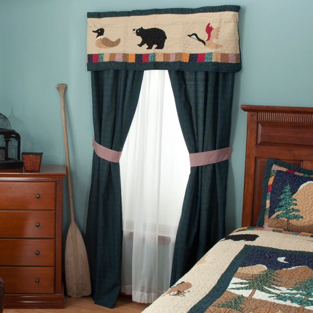 "429-618 - North Shore™ Collectible Quilts ""Bear Mountain"" Five-Piece Window Set"