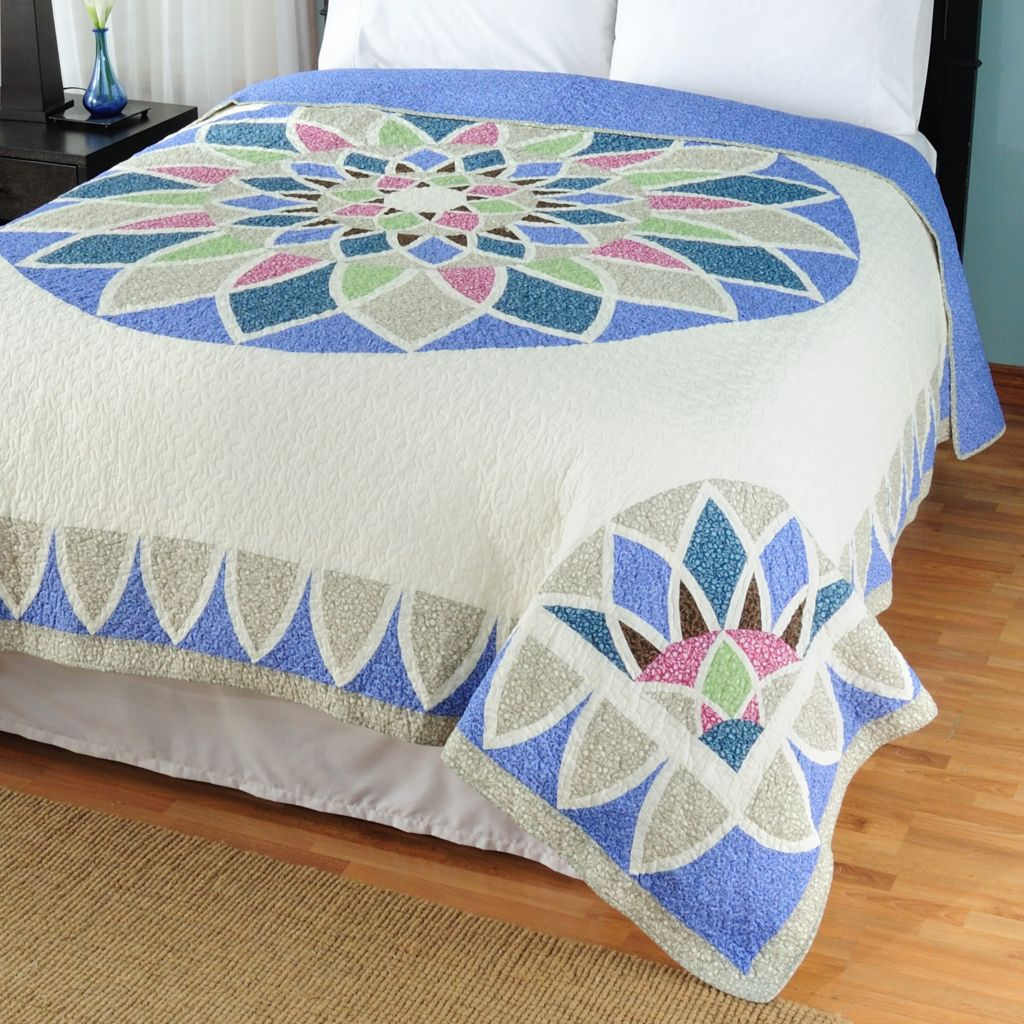 "429-623 - North Shore™ Collectible Quilts ""Kaleidoscope"" Limited Edition 100% Cotton Bedspread"