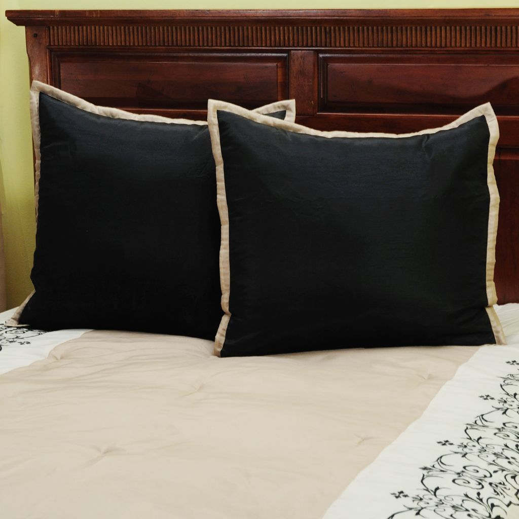 "429-733 - North Shore Linens™ ""Kingstone"" Euro Shams - Set of Two"