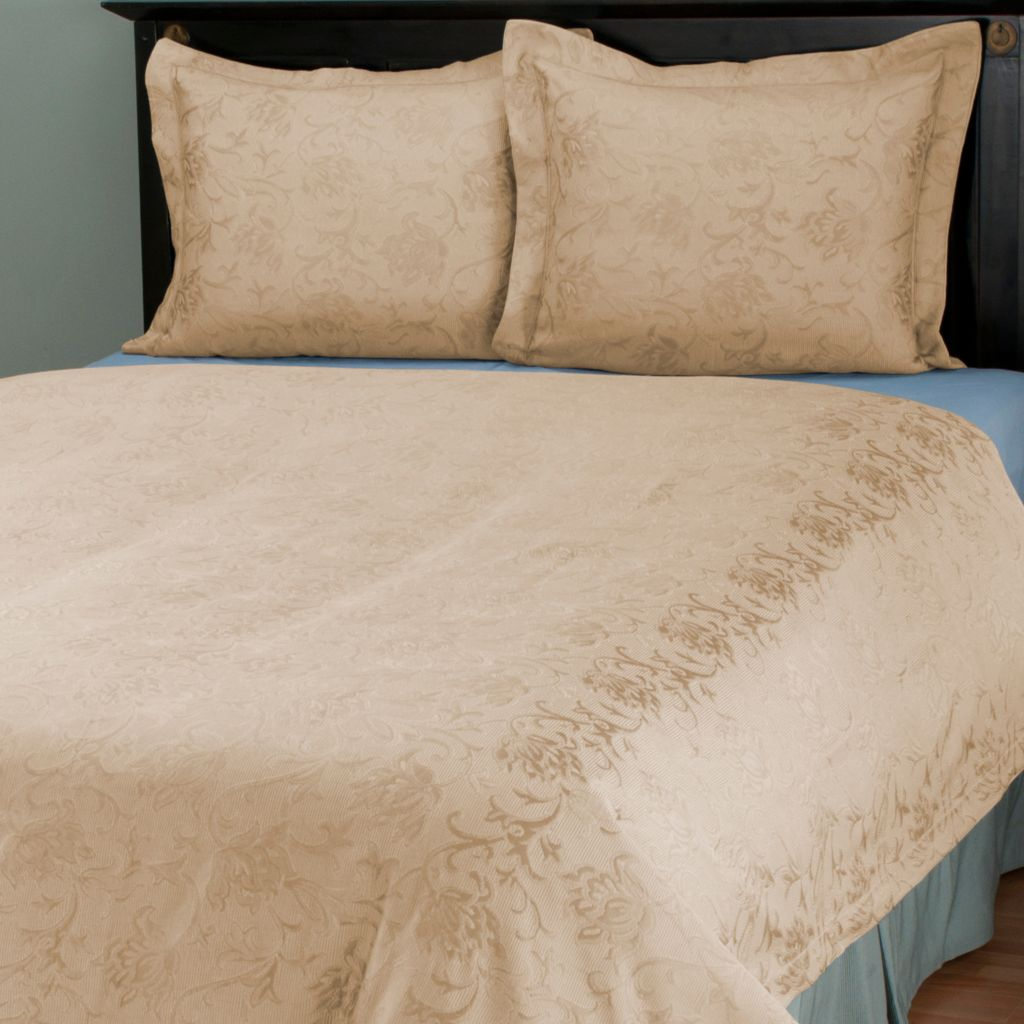 "429-866 - Cozelle® ""Limoges"" European Jacquard Three-Piece Coverlet Set"