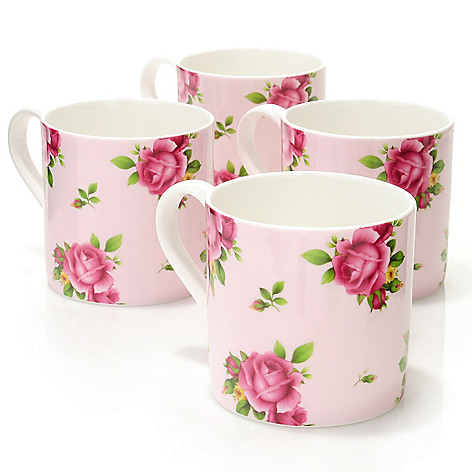 429-872 - Royal Albert® New Country Roses Set-of-Four Modern Mugs