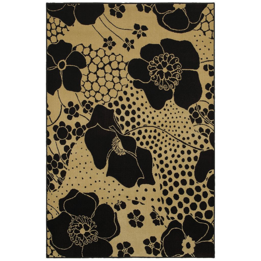 429-924 - Shaw Living™ Ebony Wildflower Woven Rug Collection
