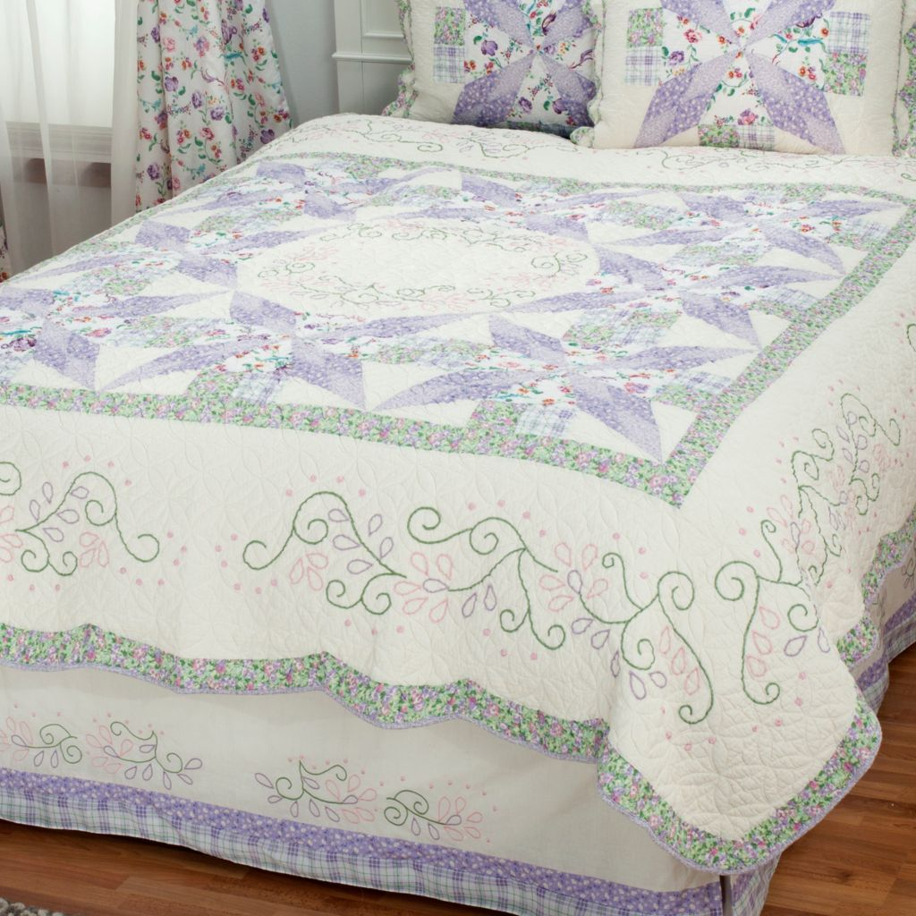 "430-302 - North Shore™ Collectible Quilts ""Bloom"" Limited Edition 100% Cotton Quilt"