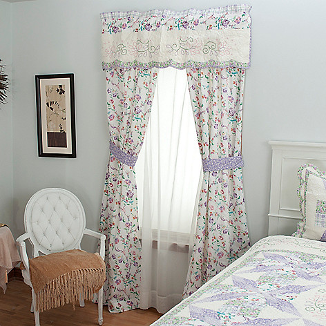 430-306 - North Shore™ Collectible Quilts ''Bloom'' Five-Piece Window Set