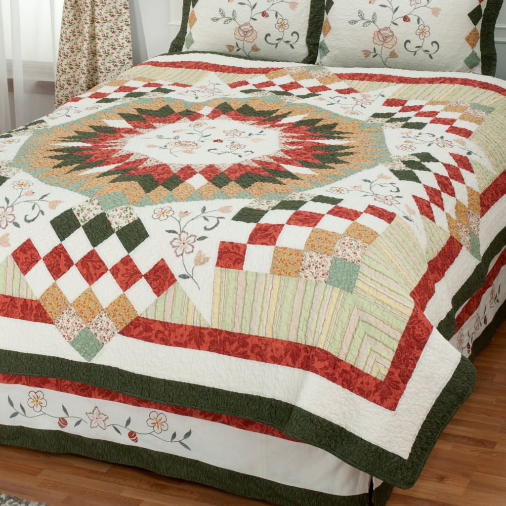 "430-310 - North Shore™ Collectible Quilts ""Hayworth"" Limited Edition 100% Cotton Quilt"