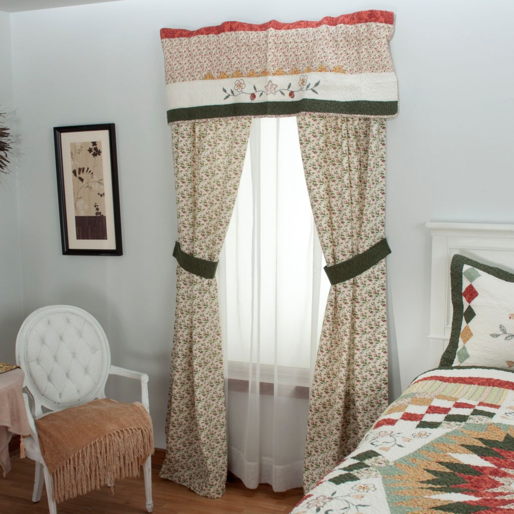 "430-314 - North Shore™ Collectible Quilts ""Hayworth"" Five-Piece Window Set"