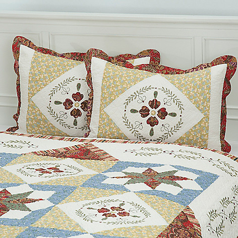 430-324 - North Shore™ Collectible Quilts ''Star Sampler'' 100% Cotton Sham Pair