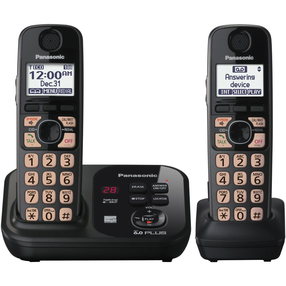 430-328 - Panasonic Expandable Digital Cordless Phone w/ Two Handsets