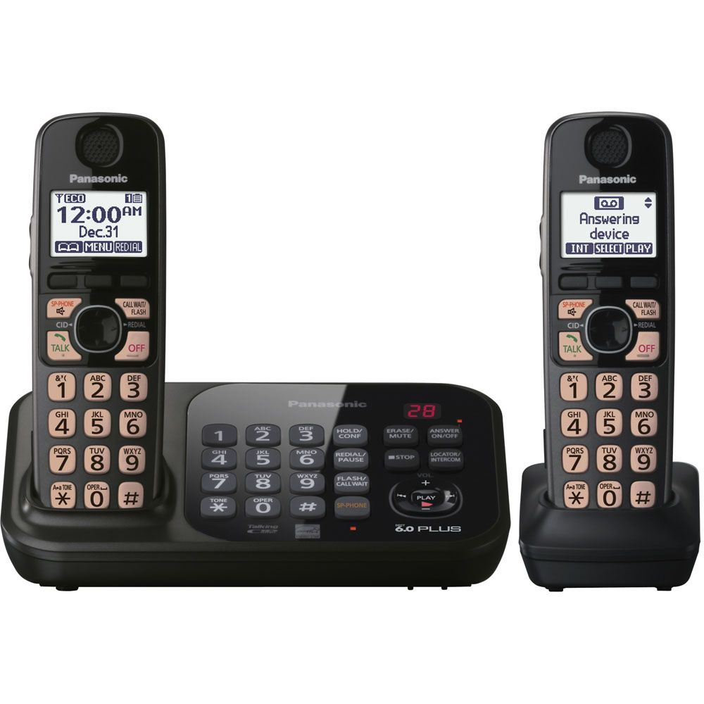 430-332 - Panasonic KX-TG4742B Expandable Digital Cordless Phone w/ Two Handsets