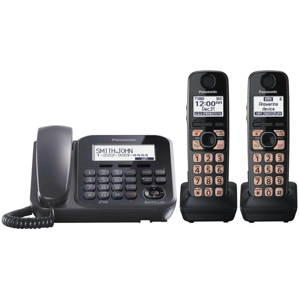 430-337 - Panasonic KX-TG4772B Expandable Digital Cordless Phone w/ Two Handsets